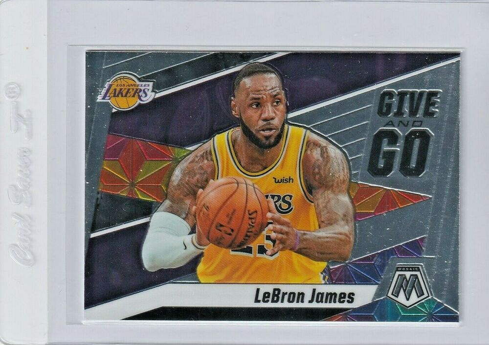 2019 Lebron James Give And Go Mosiac Panini Base 8 Lakers Pack Fresh Losangeleslakers In 2020 Lebron James Lebron Los Angeles Lakers Players