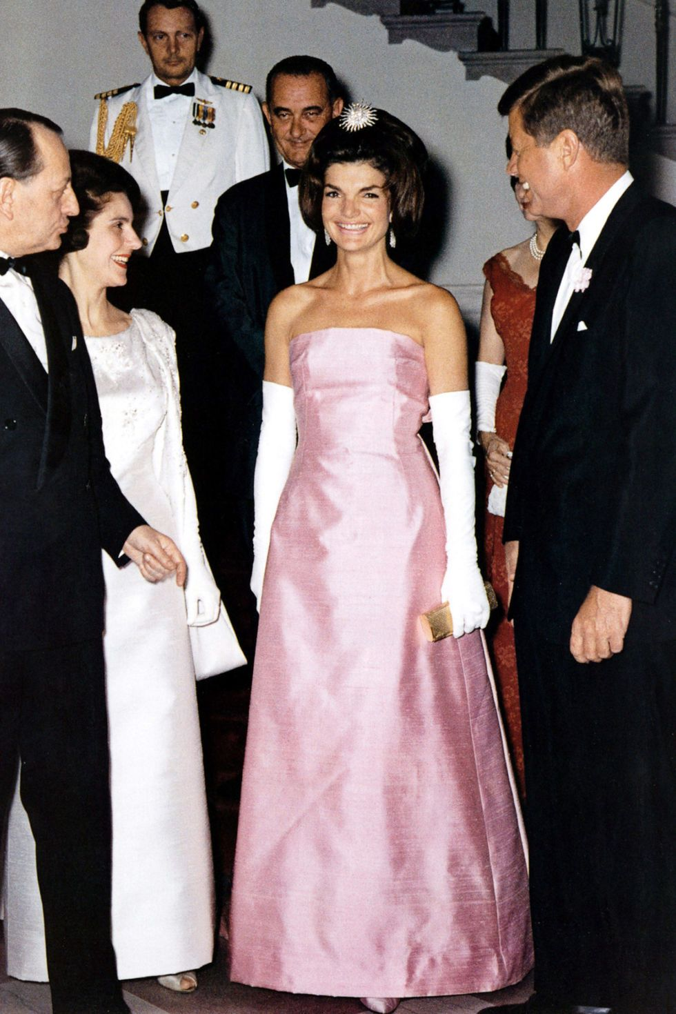 Fashion style Kennedy Jackie pink dress pictures for girls