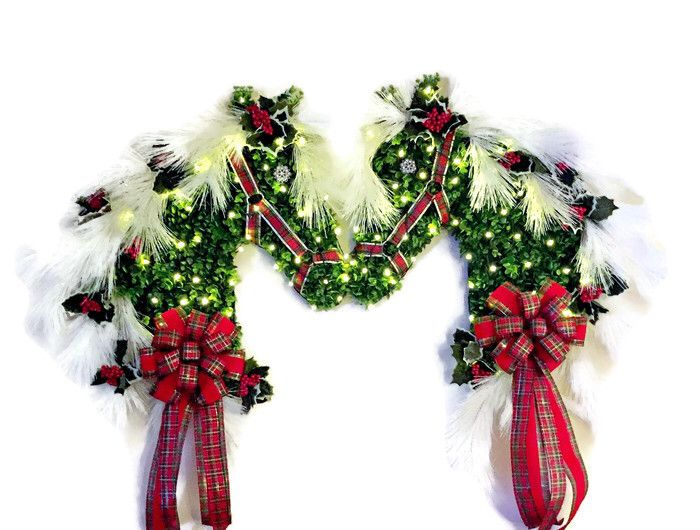 Christmas lighted horse head wreath, buy one, buy two, 50 8-function