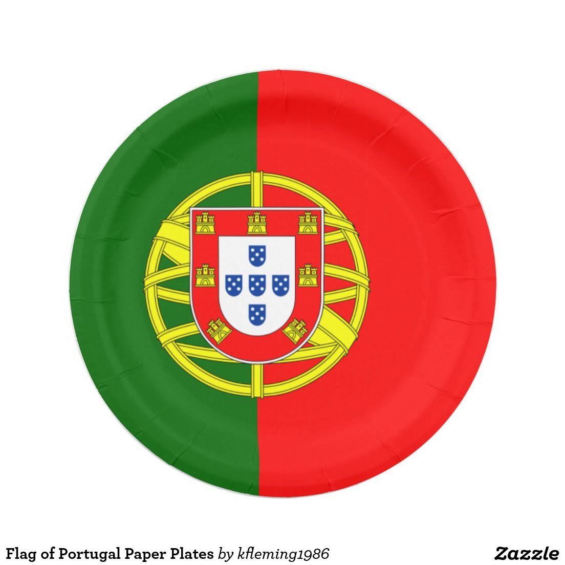 Flag Of Portugal Paper Plates Zazzle Com Paper Plates Portugal Portugal National Football Team