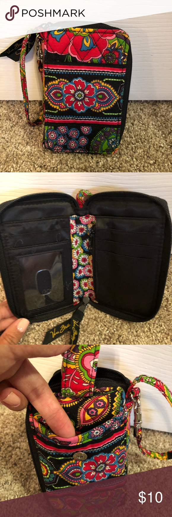 ead016fd868e Vera Bradley Wristlet Wallet Wristlet that when opened is a wallet. Holds  cards