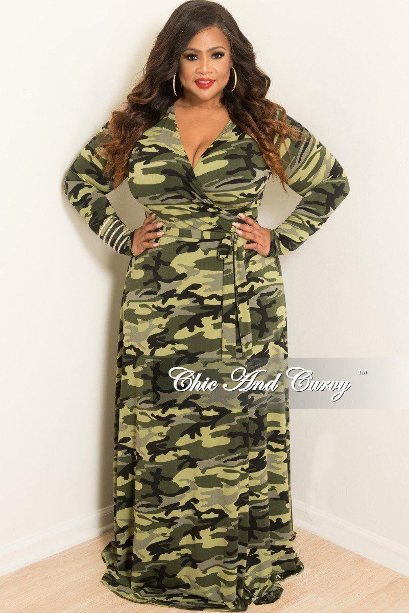 New plus size sale plus size long wrap dress with attached tie in