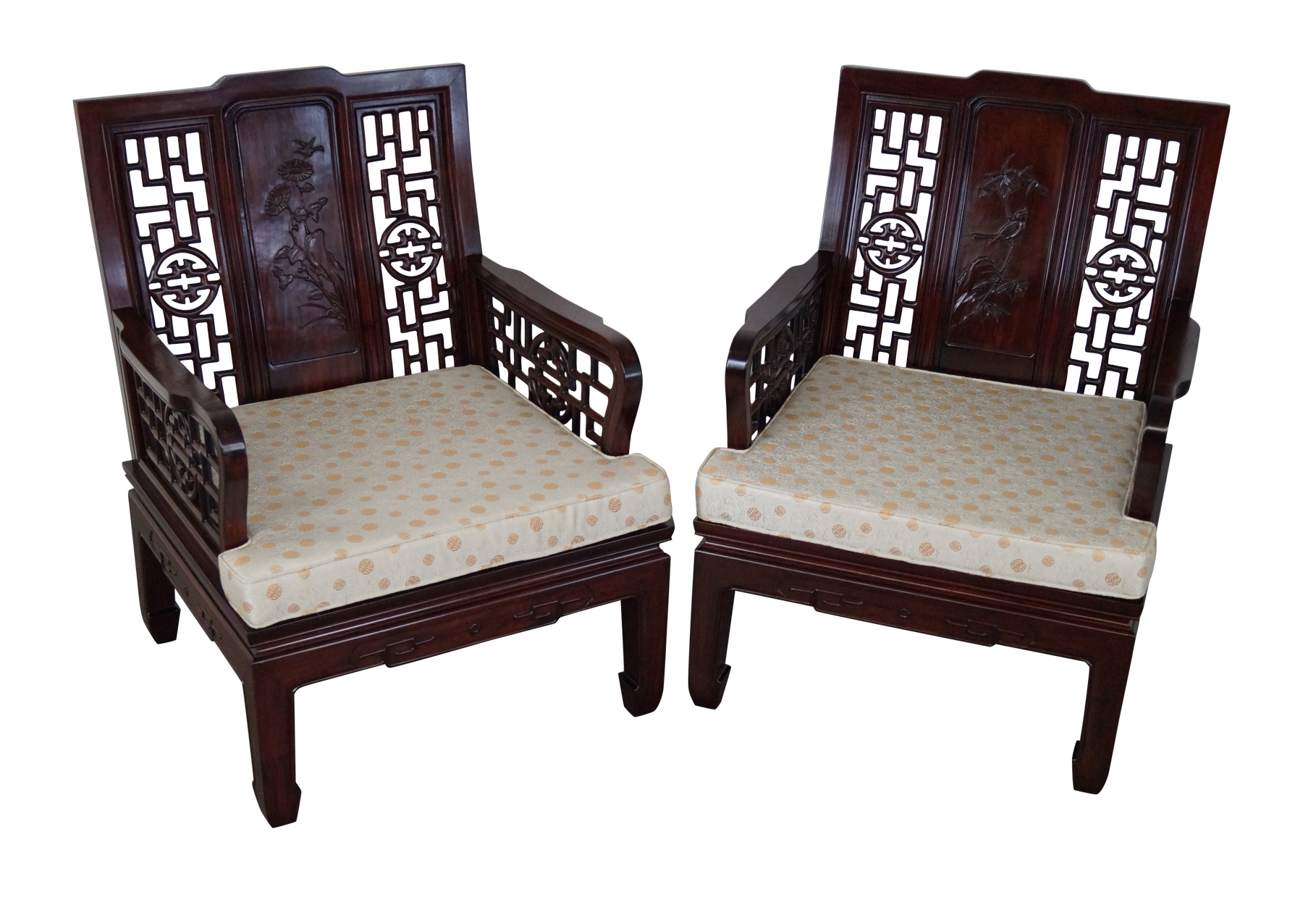 Chinese Rosewood Lounge Chairs Pair On Chairish Com Chair