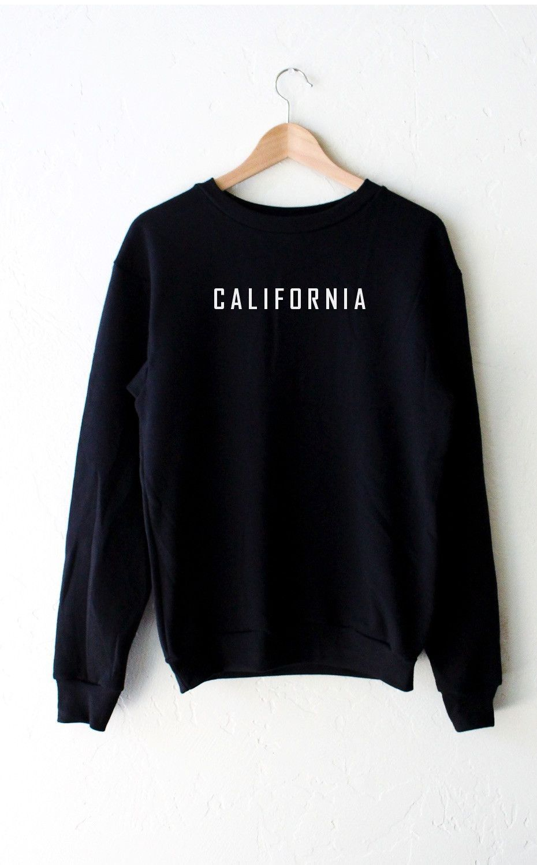 California Oversized Sweatshirt - Black   California sweater ...