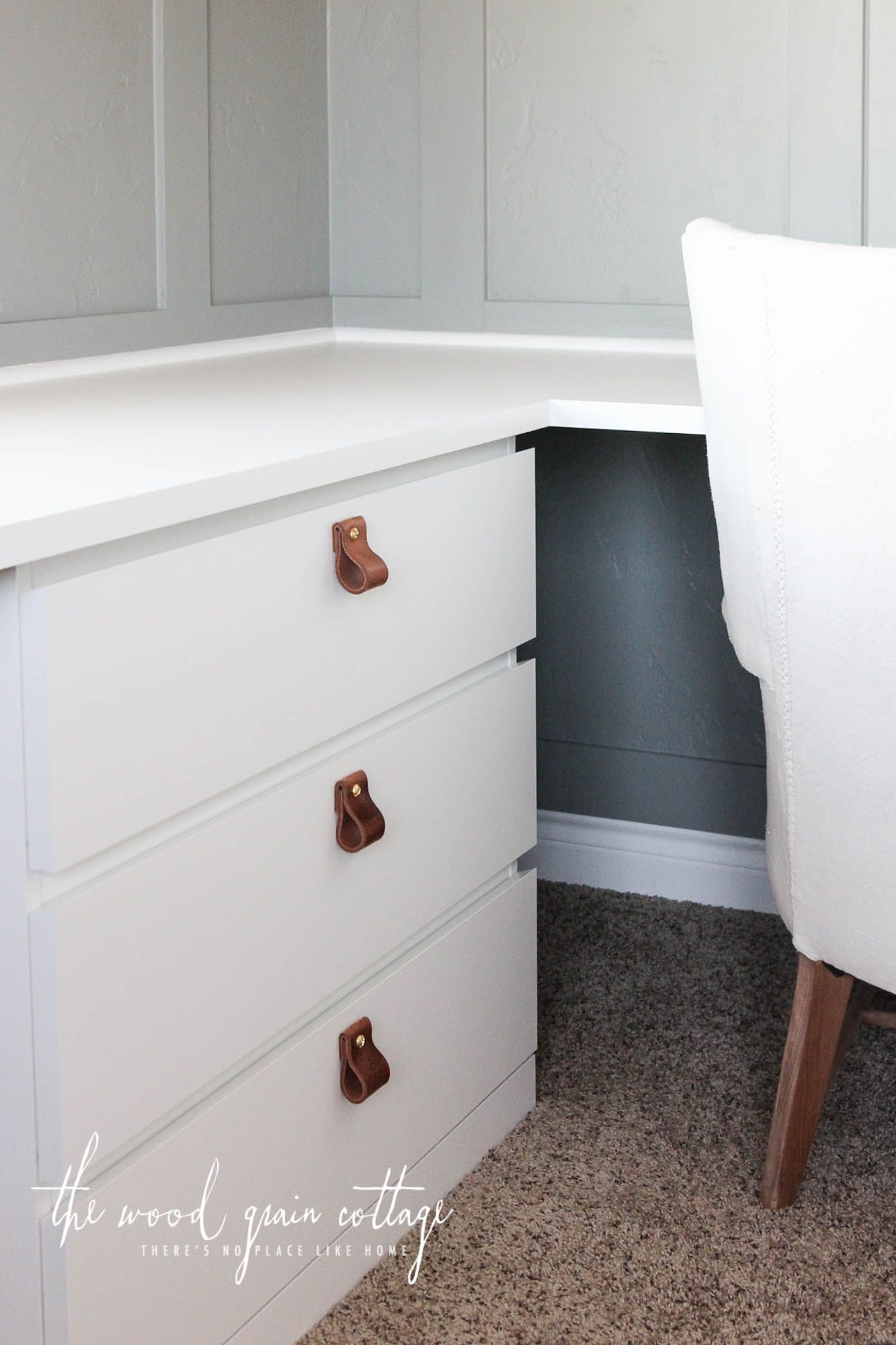 Diy Leather Pulls By The Wood Grain Cottage