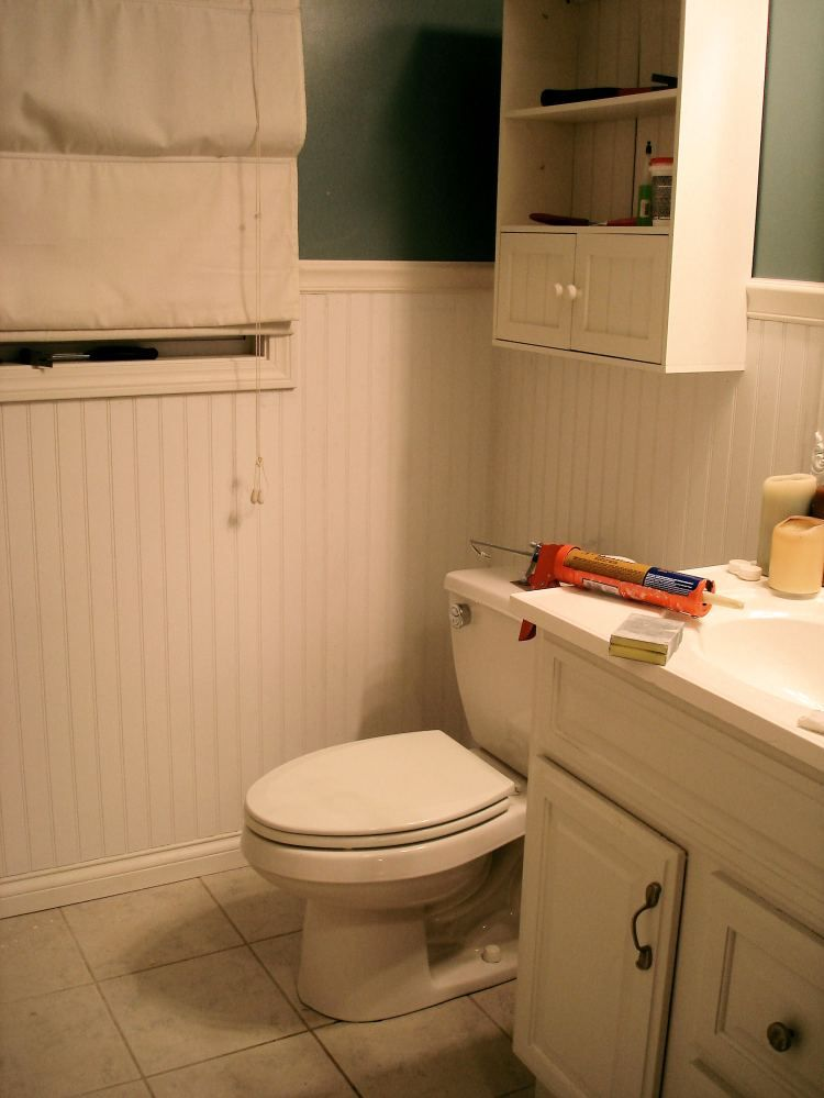 Bathroom Makeovers Ni bead board bathroom makeover! | dwell | pinterest | bead board