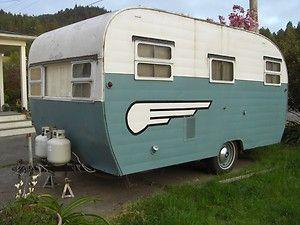 1954 Aljoa Sportsman 16ft Vintage Travel Trailer Camper Camping