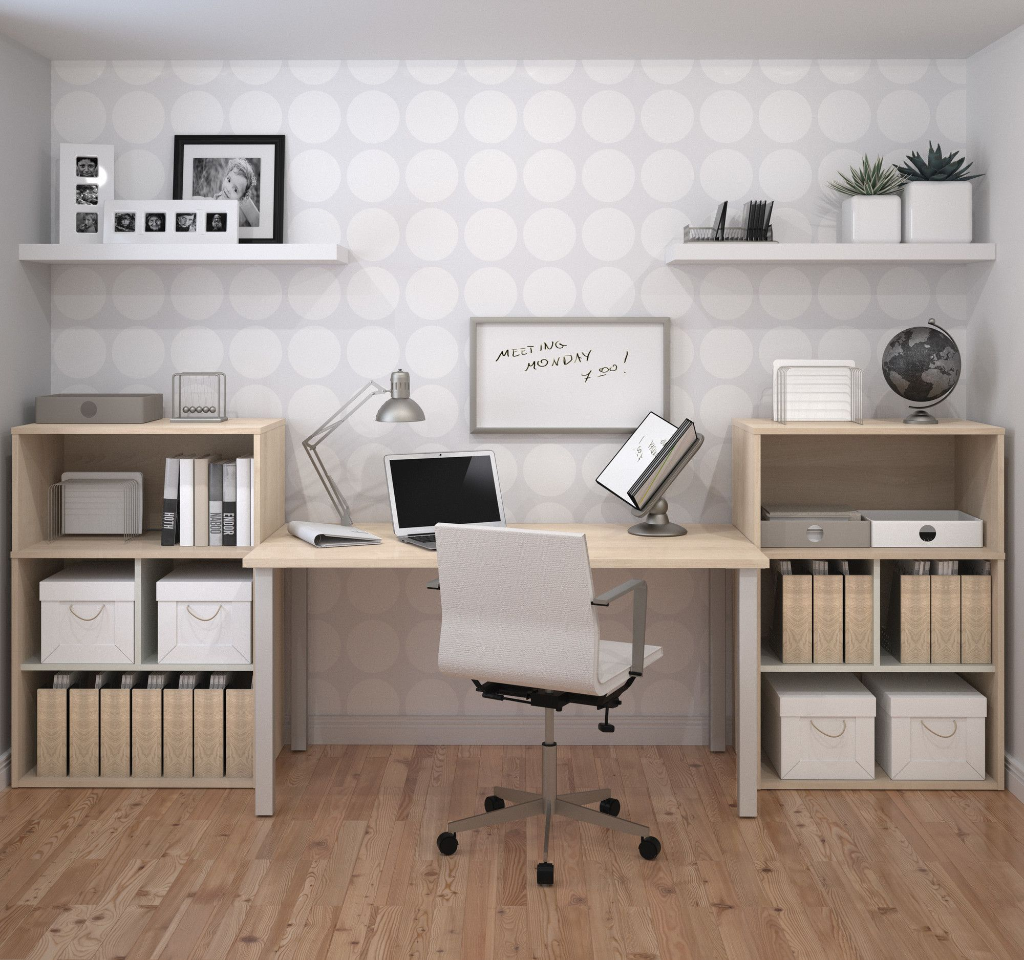 Männliches Wohnzimmer Luther 3 Piece Standard Desk Office Suite Products