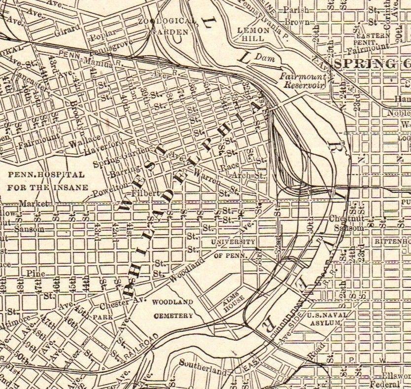 1918 Antique PHILADELPHIA MAP Vintage City Map of ...