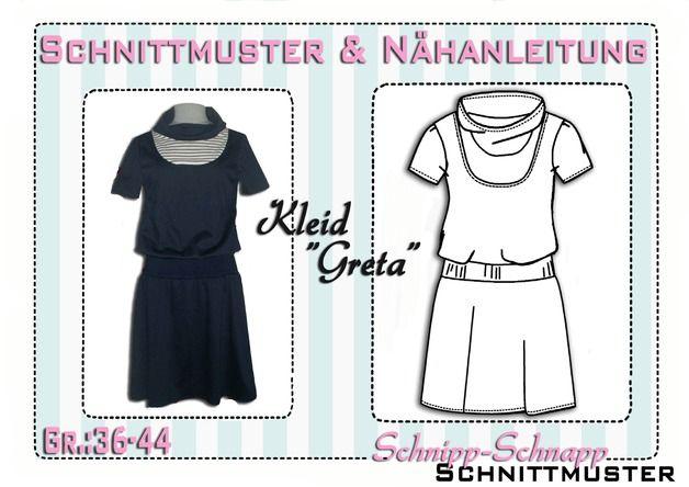 """Kleider & Schürzen - Schnittmuster/Ebook Kleid """"Greta"""" Gr:... - ein Designerstück von schnipp-schnapp-77 bei DaWanda"""