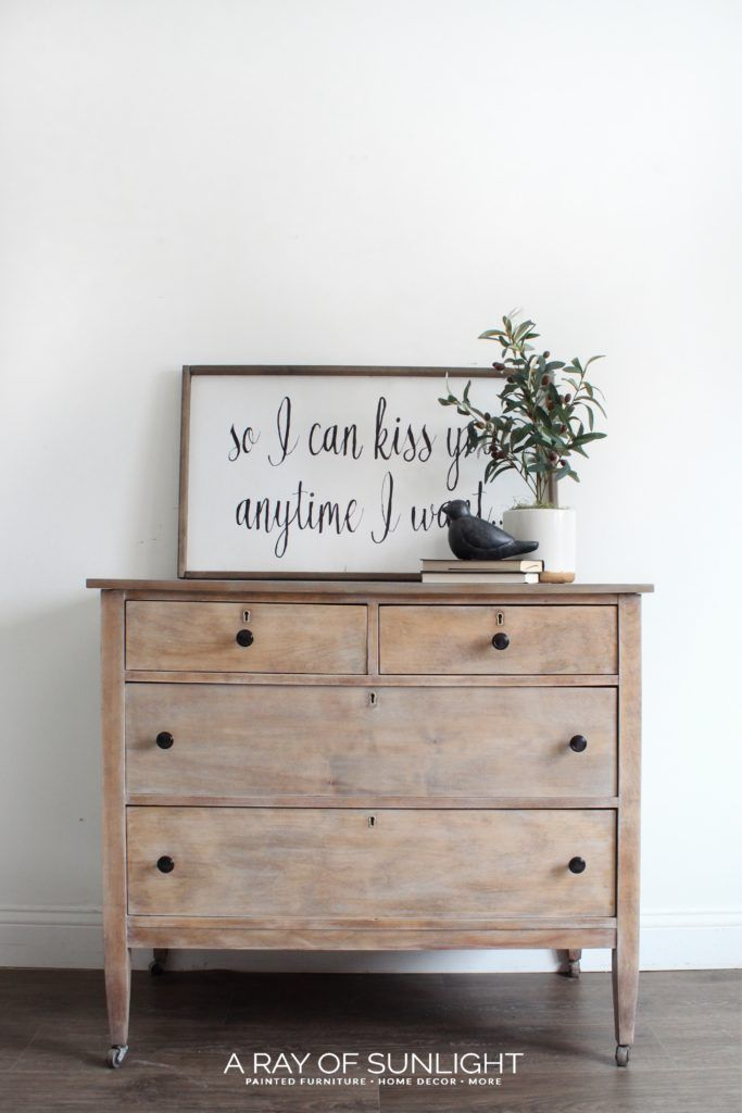 Weathered Wood Dresser #rusticbedroomfurniture