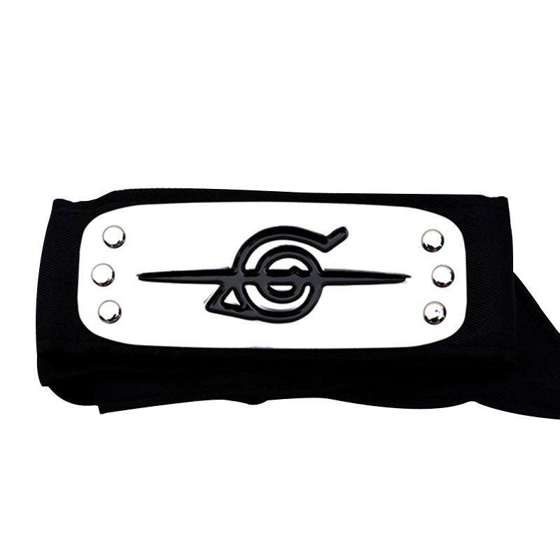 Naruto NEW Kakashi Sasuke Black Leaf Village Konoha Ninja Headband Cosplay Props