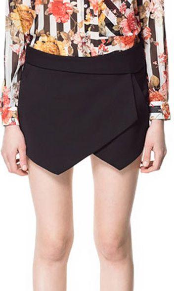 Cute Cheap Euramerican irregular casual shorts Ele9321 Black - Shorts Online Shopping Free Shipping