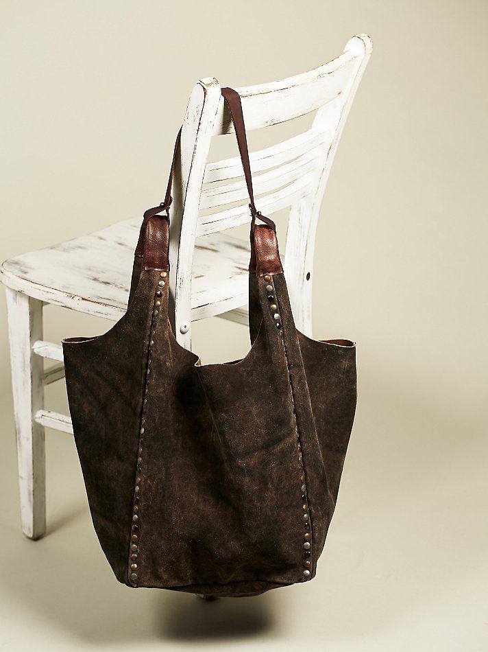 Old Trend Sierra Leather Tote At Free People Clothing Boutique Handbags