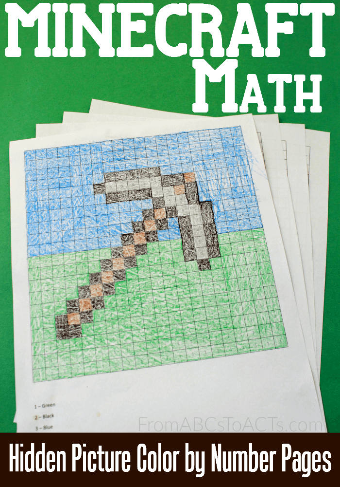 Minecraft Math: Hidden Picture Color by Number Pages | Homeschool ...