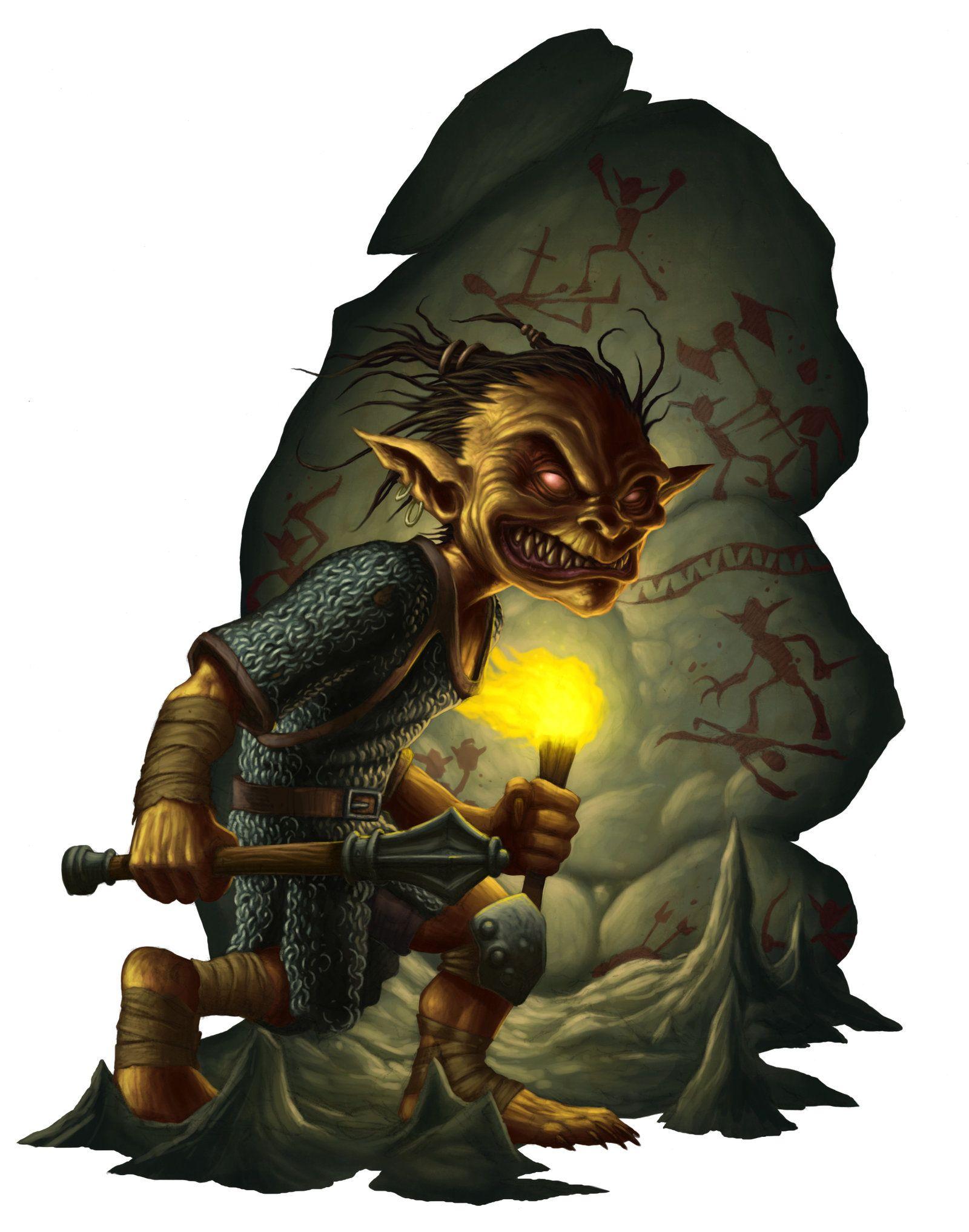 Mystical creatures: monsters, spirits, goblin, brownie