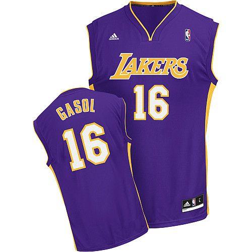 Adidas NBA Los Angeles Lakers 16 Pau Gasol New Revolution 30 Swingman  Purple Jersey a0e4b7cac