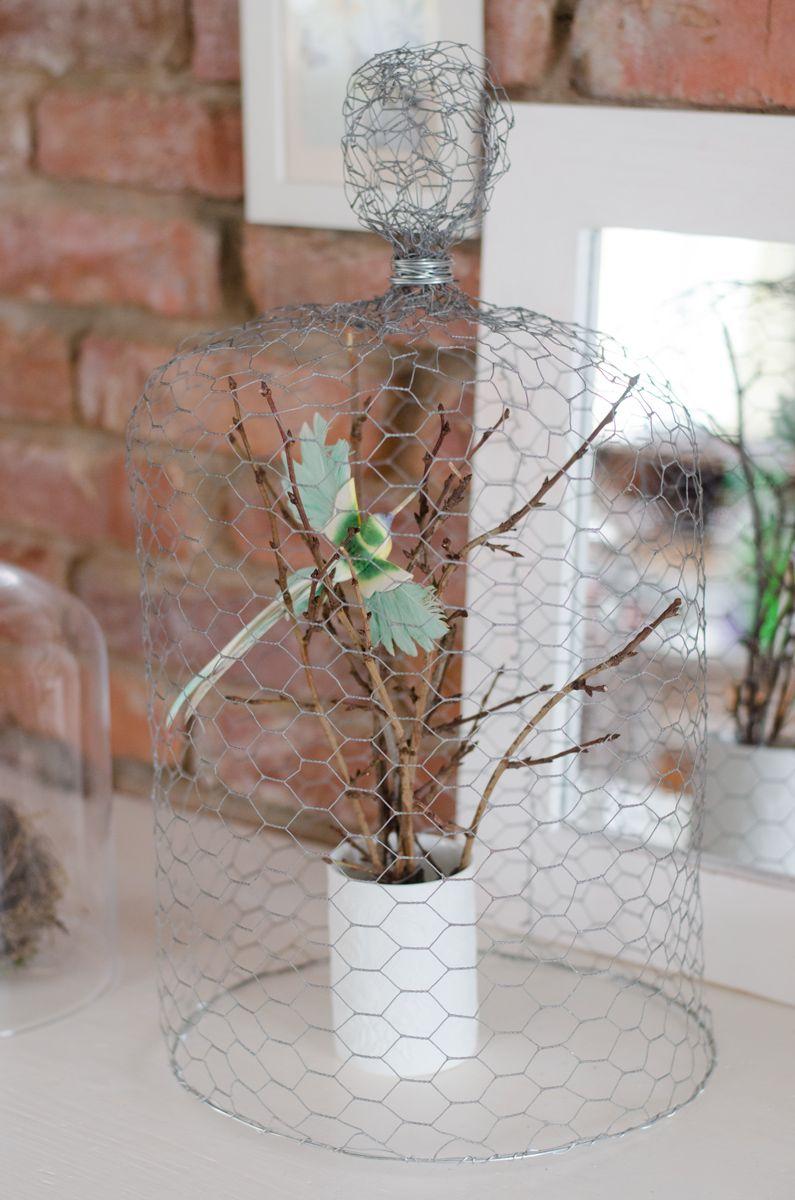 DIY Cloche aus Draht | Draht, Diy ideen und Frühling