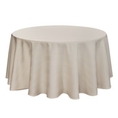 Arlee Home Fashions Inc.  Ivory Encore Microfiber Ivory Tablecloth 70-in. round