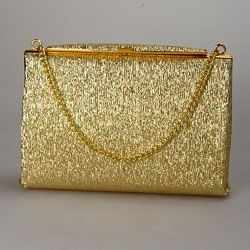 Vintage gold colour handbag with chain handle