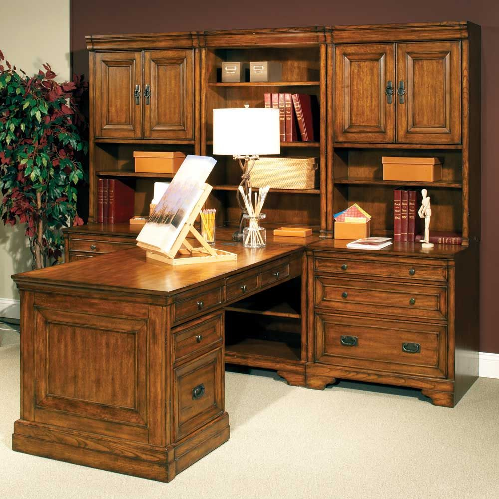 Centennial Computer Desk, Bookcase, And File Cabinet