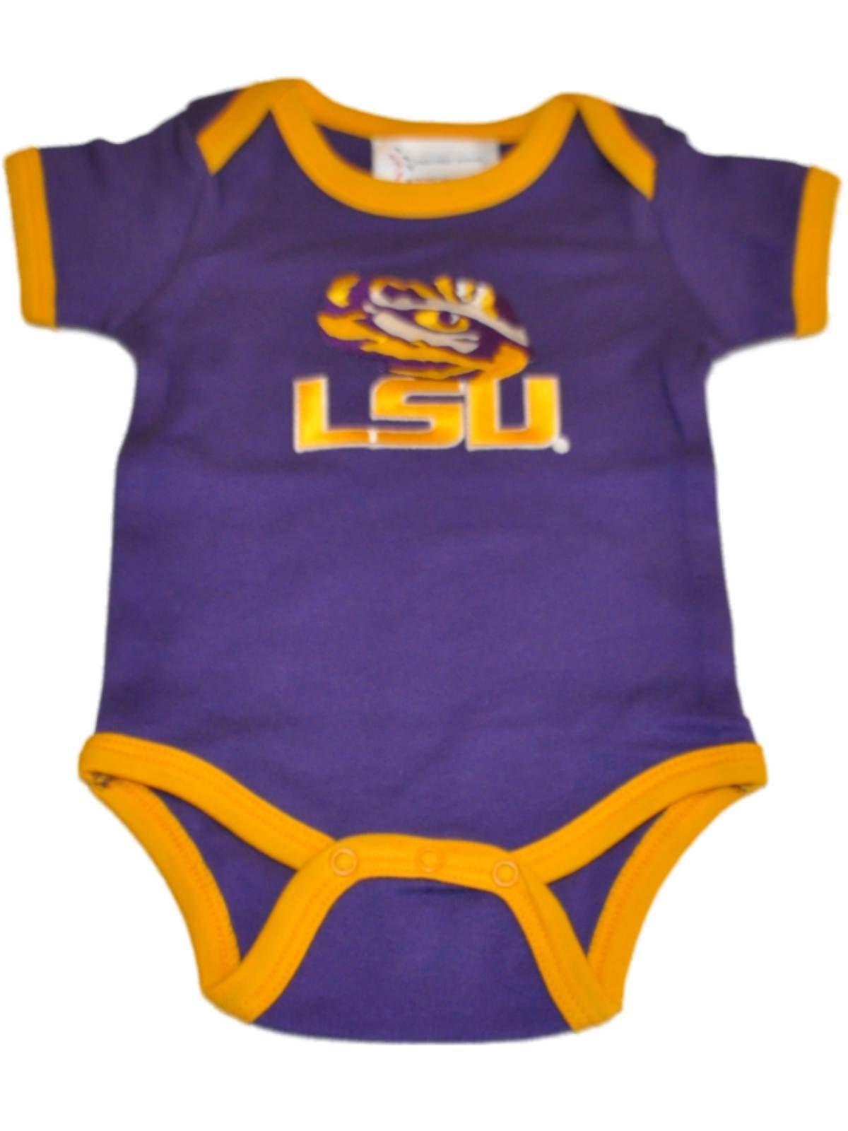 ff61eef9a LSU Tigers TFA Infant Baby Lap Shoulder Ringer Romper One Piece ...