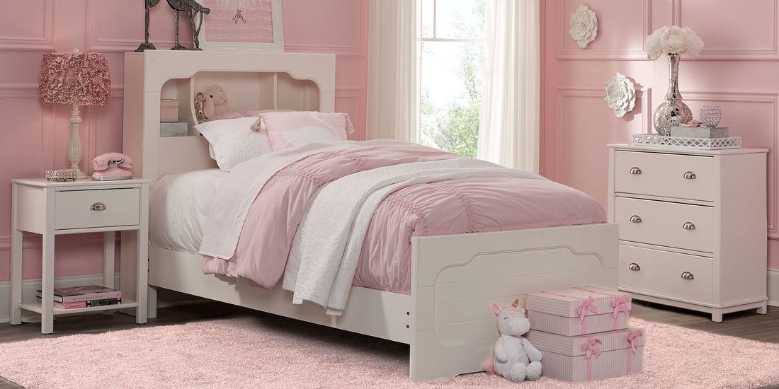 Kids Edgegrove White 2 Pc Twin Bookcase Bedroom Bedroom