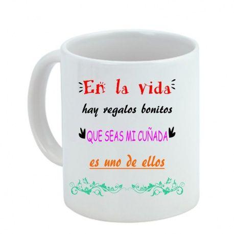 Tazas Personalizadas Con Frases De Cuñada Boda Regalos