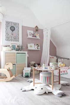 Kinderzimmer ideen für mädchen schräge  Kinderzimmer-in-Pastellfarben | sofias zimmer | Pinterest ...