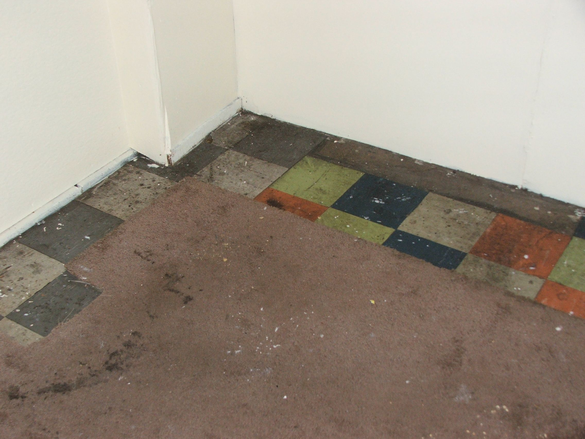 Asbestos content in old vinyl floor tiles (Chrysotile