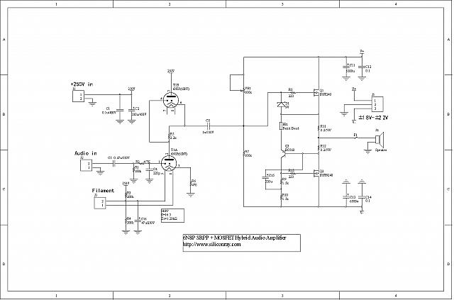 Tube (6N8P) + MOSFET Hybrid HiFi Audio Amplifier SA-07