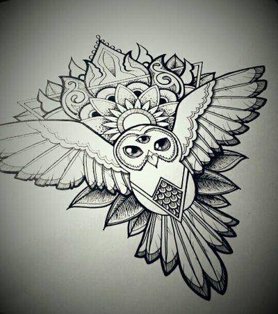 mandala owl by gummybearbubble89deviantartcom on deviantart