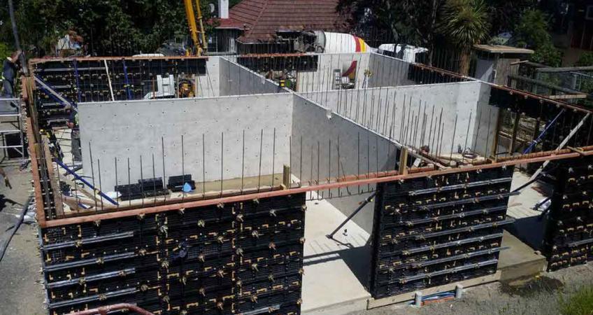 Bofu Plastic Concrete Formwork For Cross Wall Concrete Formwork Corner Wall Wall