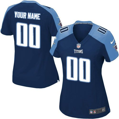 nike limited navy blue womens jersey customized tennessee titans nfl alternate