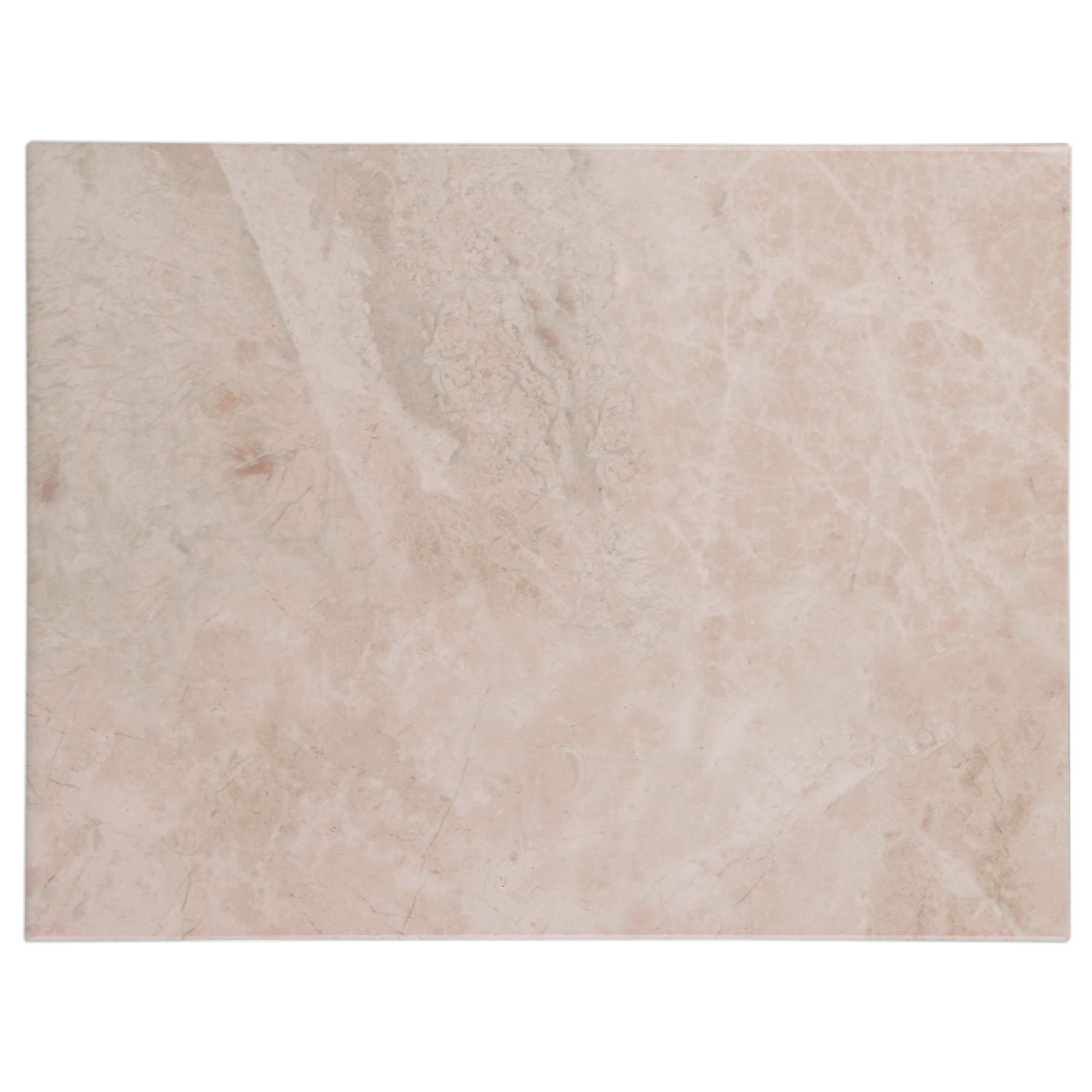 Perouso White Gloss Ceramic Wall Tile Pack Of 6 L 600mm: Illusion Cappuccino Marble Effect Ceramic Wall & Floor