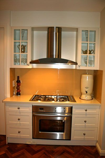 exposed range hood, built in oven Country kitchen 44 ...