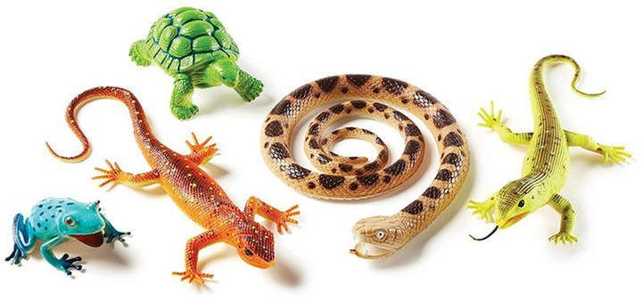Learning Resources Jumbo Reptiles And Amphibians Set Of 5