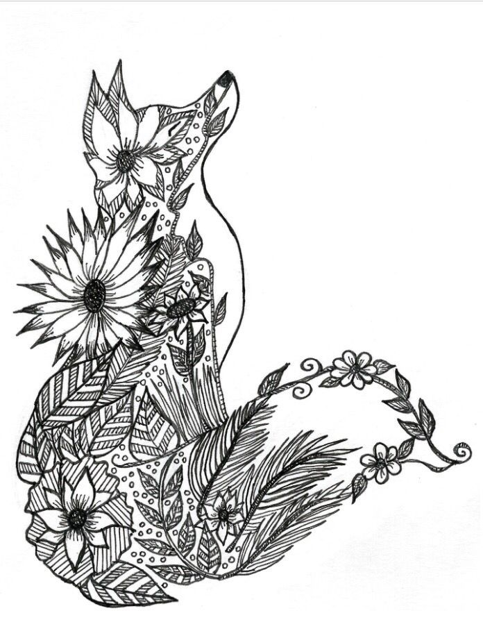 Pin By Walnut Hollow On Tattoooooooo Fox Coloring Page Animal Coloring Pages Mandala Coloring Pages