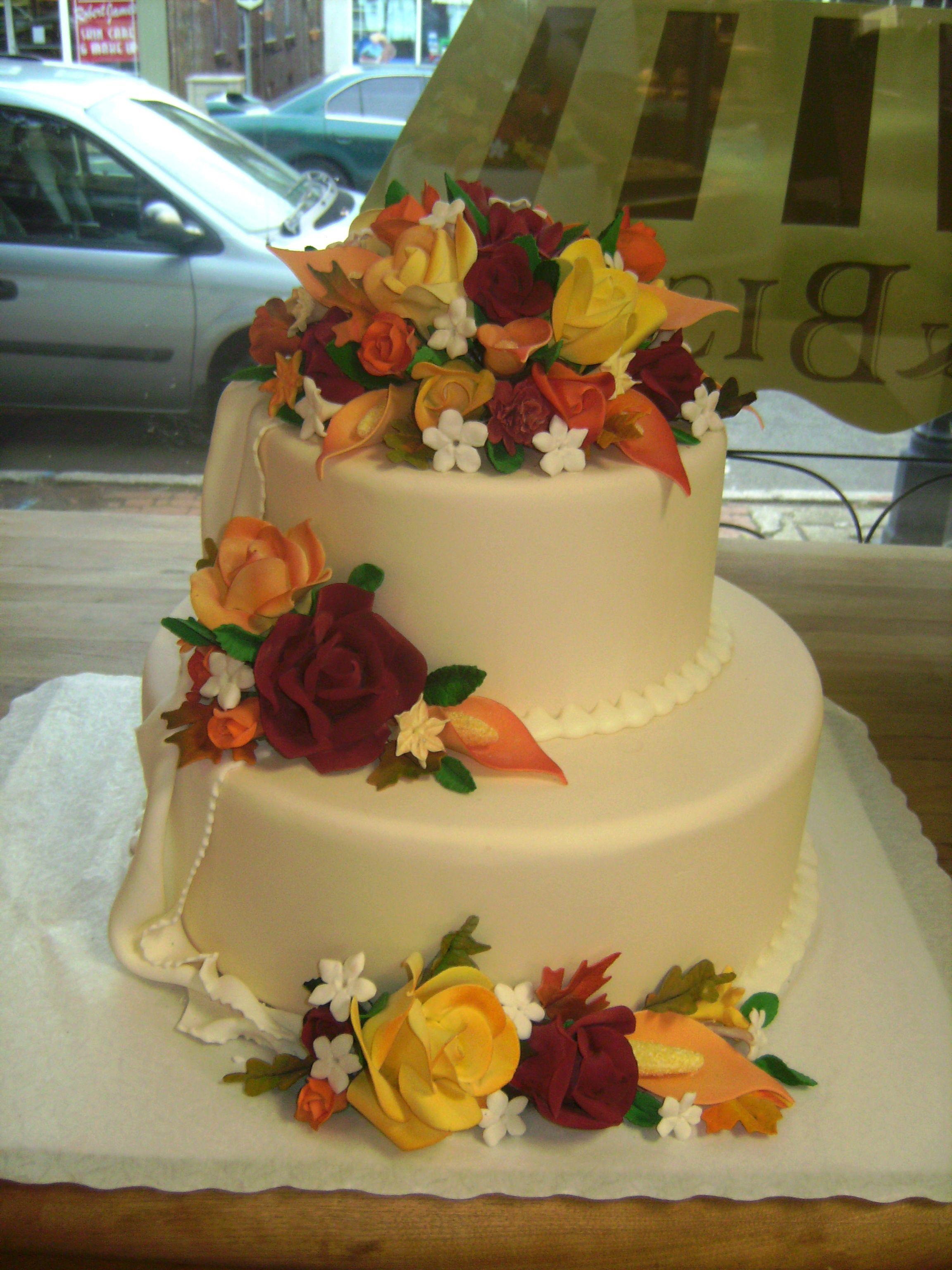 Festive Autumn Wedding Cake