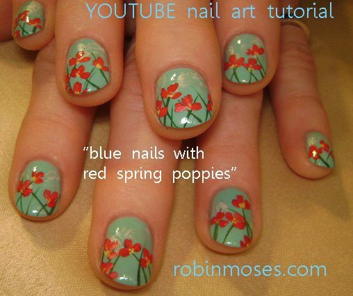 red spring poppies