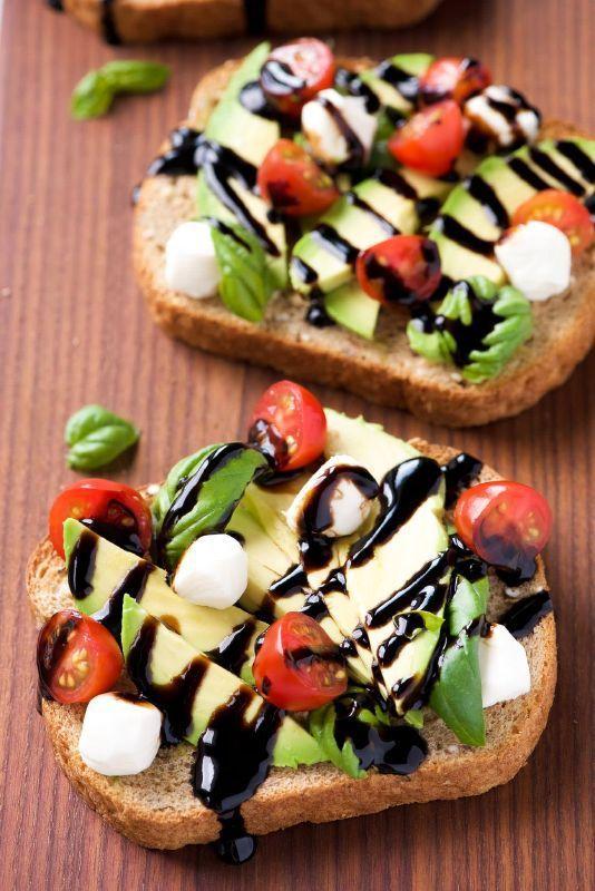 avocado toast caprese