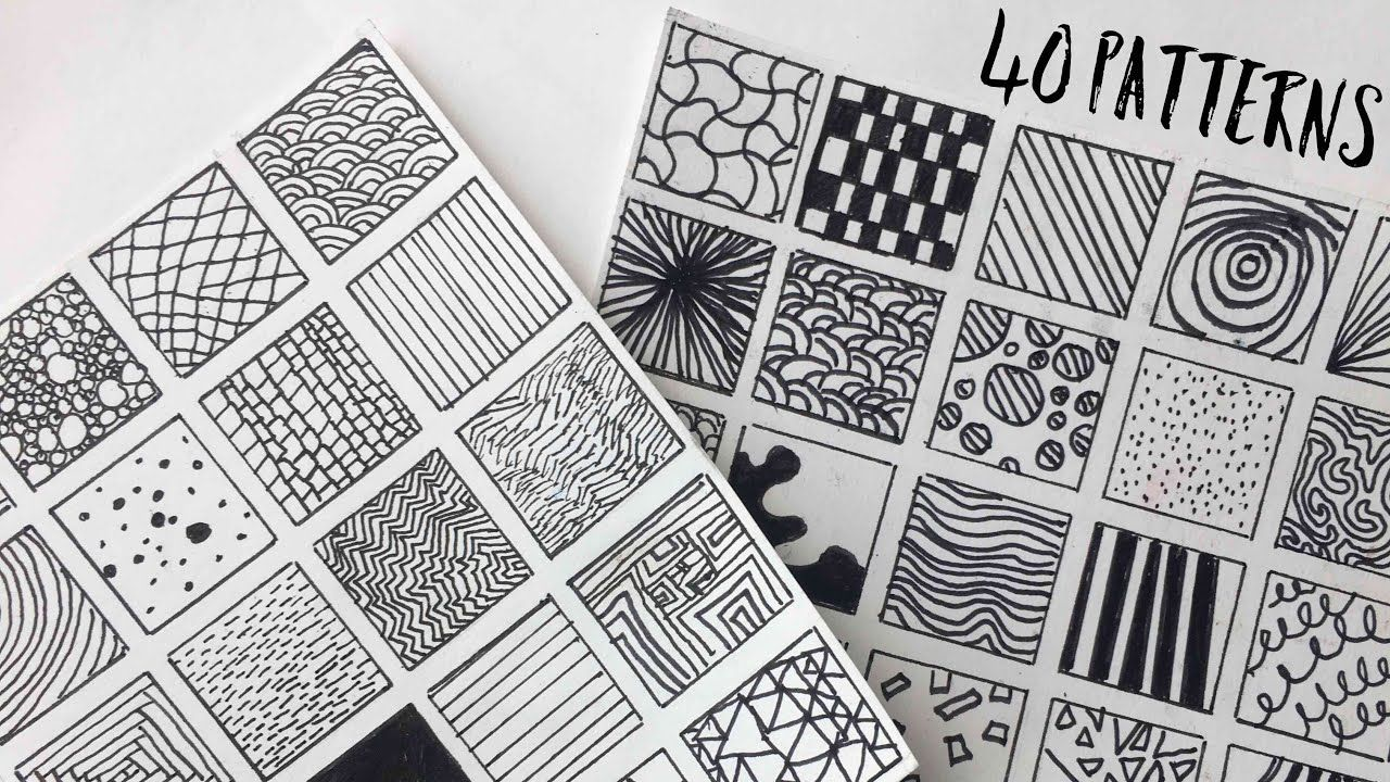 40 Patterns For Filling Space In Doodles Drawings Doodle