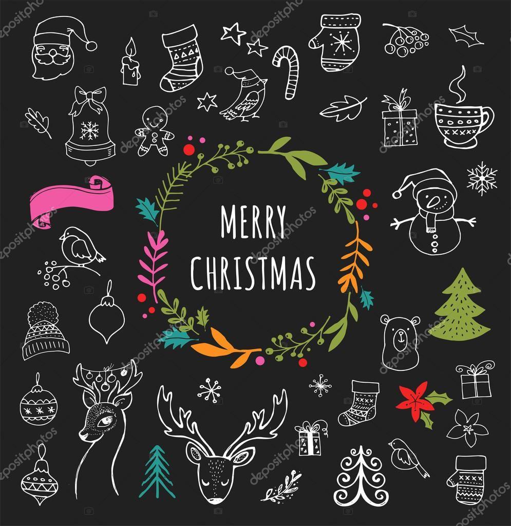ダウンロード , メリー クリスマス , クリスマス落書きシンボル