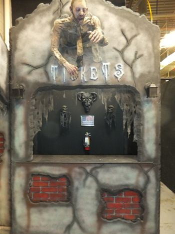 CUSTOM TICKET BOOTHS Recipes to try Pinterest Halloween