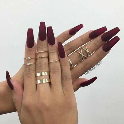 Red Fashion Nails Beauty Stunning Real Gold Want