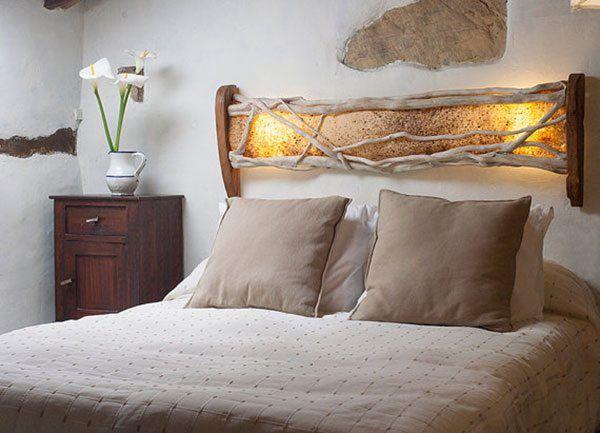15 ideas para hacer un cabecero de cama con madera reciclada - Hacer Cabecero Cama