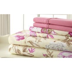 Spirit Palazzo Home Sheet Set in Pink - Size: Queen