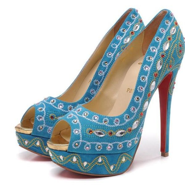 Christian Louboutin Bollywoody 140mm Pumps Turquoise