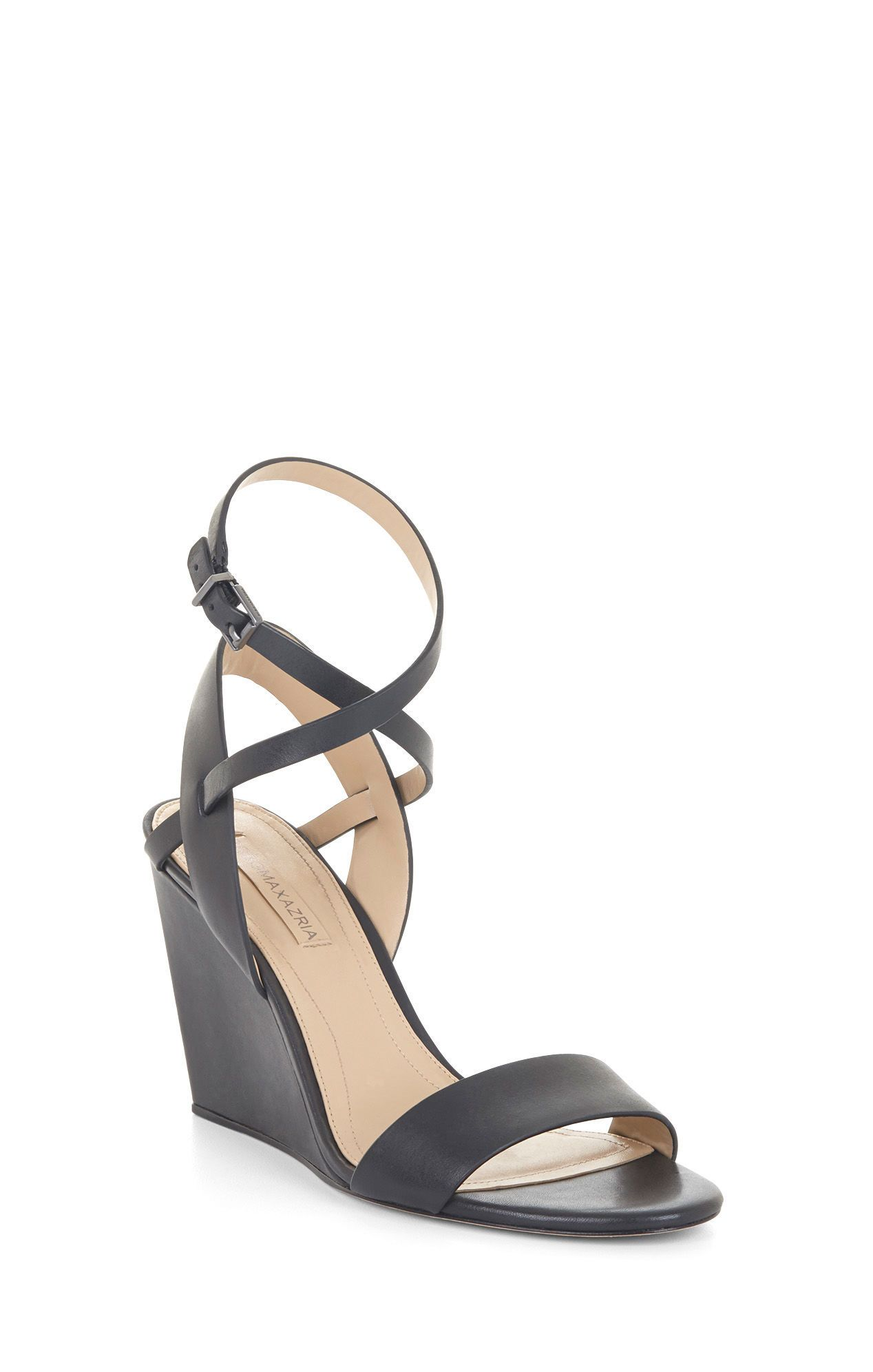 Lennox Leather Wedge Sandal | BCBG