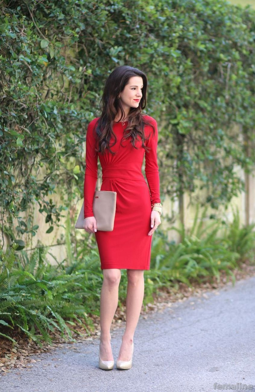 9ee04b4b87 88 Elegant Red Dress Ideas Make You Look Sexy | Elegant Red Dresses ...